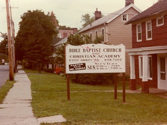 Bible Baptist Sign 1978